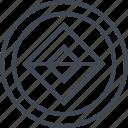 abstract, center, creative, cube, design, goal icon