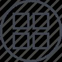 abstract, creative, design, dot, four icon