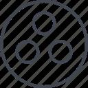 abstract, creative, design, dot, three icon