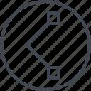 abstract, creative, design, edge, line icon