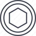 abstract, creative, design, hex, hexagon icon