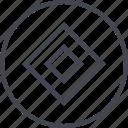 abstract, creative, cube, design, hexagon icon