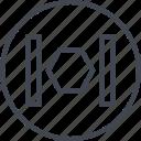 abstract, creative, design, hex, hexagon, lines icon