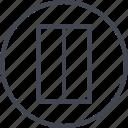 abstract, creative, design, line, rectangle icon