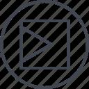 abstract, arrow, creative, design, go, right, shape icon