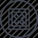 abstract, creative, cross, delete, design, shape, stop icon