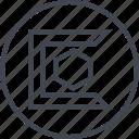 abstract, creative, design, edge, hexagon, shape icon