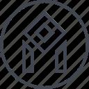 abstract, creative, design, edge, lines, shape icon