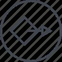abstract, arrow, creative, design, go, puzzle, shape icon