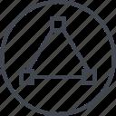 abstract, creative, design, dots, triangle icon