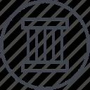 abstract, column, creative, design icon