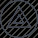 abstract, creative, design, triangle icon