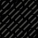 abstract, creative, design, dots, nine icon