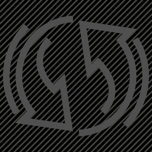 arrow, reload, round, update icon
