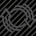 arrow, round, update, reload icon