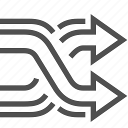 arrow, move, navigation, right, shuffle icon