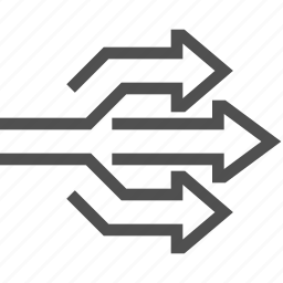 abstract, arrow, direction, move, right, way icon