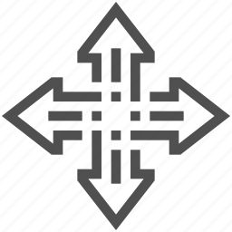abstract, arrow, expand, spread icon