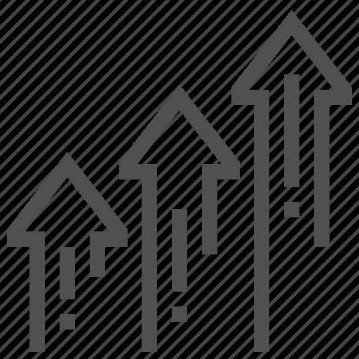 abstract, arrow, gain, increase icon