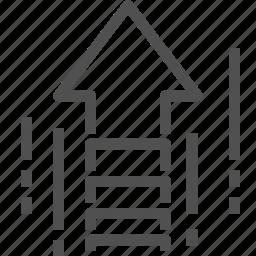 arrow, gain, icrease, performance, up icon