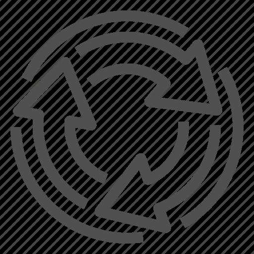 arrow, change, reload, round, transition, update icon