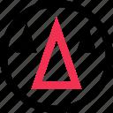 abstract, arrow, cones, creative, design, up icon
