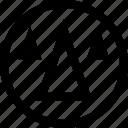 arrows, cones, point, three, up icon