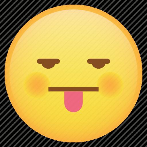drunk, emoji, emoticon, smiley, tongue, weird icon