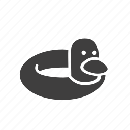 activity, duck, ring, rubber, sport, swimming, water icon