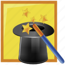 fantasy, magic, magician icon