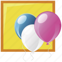 balloon, birthday party, memories icon