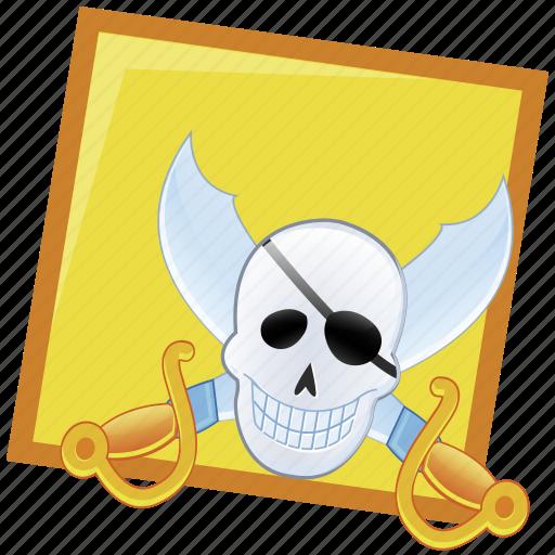pirate, treasure icon