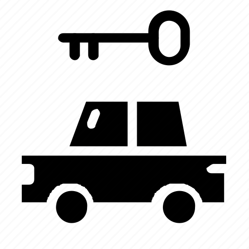 car, key, transportation icon