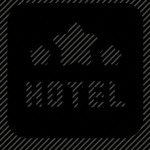 accommodation, hotel, rating icon