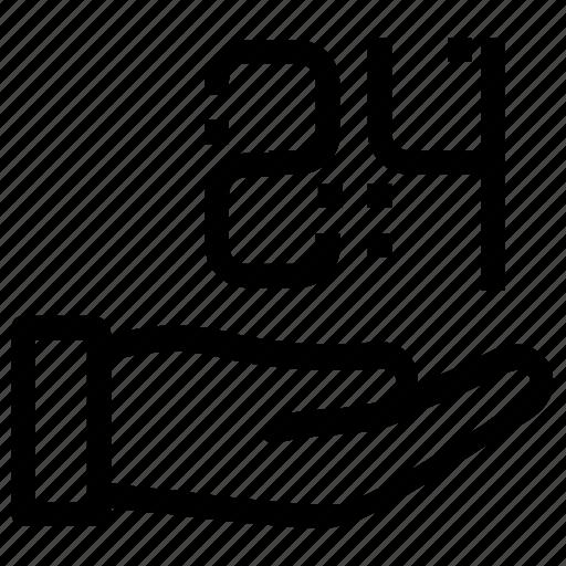 accommodation, customer, service icon