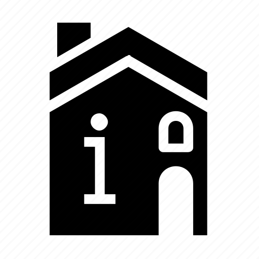 accommodation, building, information icon