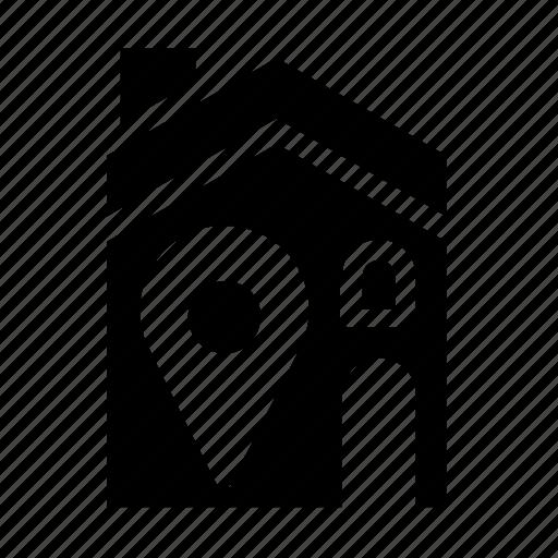 accommodation, house, location icon