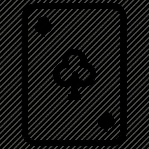 card, clubs, gambling icon