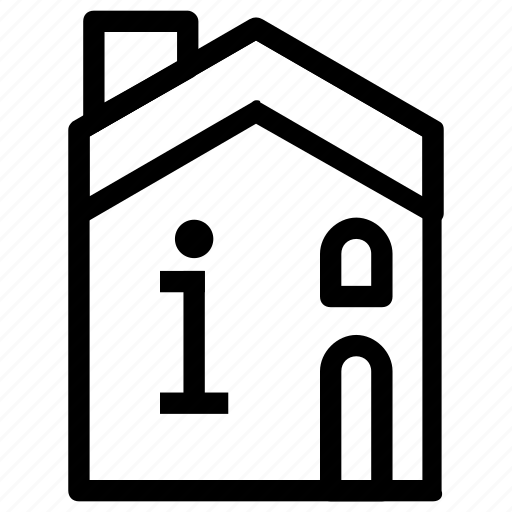 accommodation, building, info, information icon