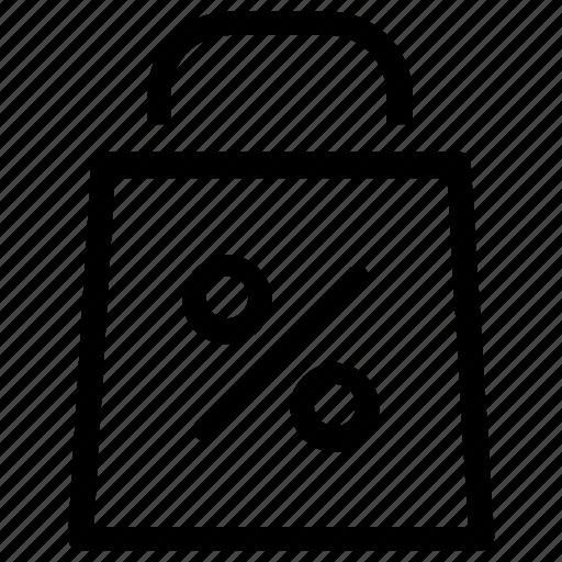 Offer, bag, percentage icon