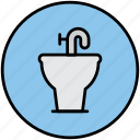 bathroom, bidet, sanitary, tap, toilet, water, wc icon