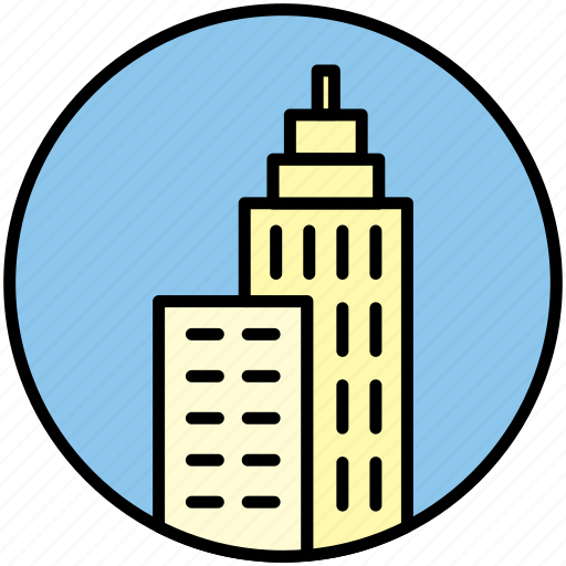 apartment, building, city, home, hotel, skycraper, tower icon