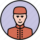 door, door man, doorman, guard, receptioner, security icon