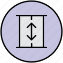 building, down, elevator, floors, lift, skyscraper icon