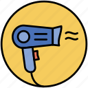 dryer, fan, hair, hair salon, hairdresser, hairdryer icon