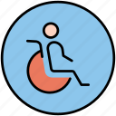 disable, disabled person, handicap, invalid, wheelchair icon