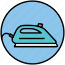 clothes, electric appliance, flatiron, home appliance, iron, ironing, streaming icon
