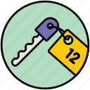 apartment key, keys, room, room key