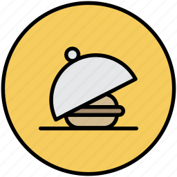breakfast, dinner, food, lunch, room service, tray icon