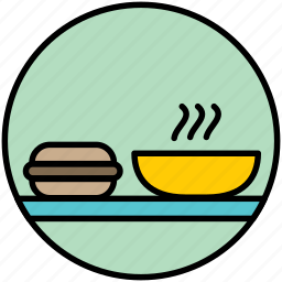breakfast, burger, dinner, lunch, restaurant, soup icon